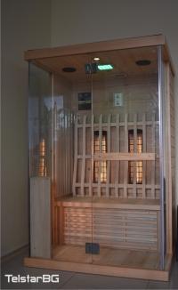 Двуместна инфрачервена сауна с голяма стъклена витрина TS-5002D-2 NEW MODEL