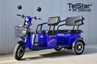 Триместна 2+1 карго електрическа триколка TS-302 MAXI 2000W 60V 36AH НОВ МОДЕЛ