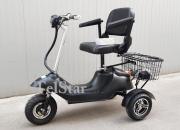 Електрическа триколка   500W с луксозна кожена седалка кресло  с подлакътници
