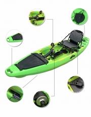 Риболовен и туристически кану каяк GRACE с педална система и кормилна уредба