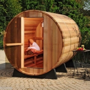 "Finnish sauna type ""barrel"" LS-1824 with 6 places"