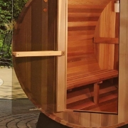 "Finnish sauna type ""barrel"" LS-1812 with 2 place"