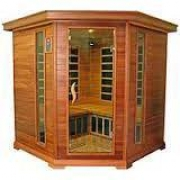 Infrared corner sauna with 4 places
