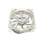 Вентилатор 8025 със светло червена светлина