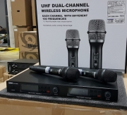 Двоен безжичен микрофон BIEMA UHF2688II DOUBLE HANDHELD WIRELESS
