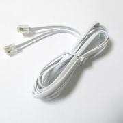 Свързващ кабел за телефон KD35-6P4C бял
